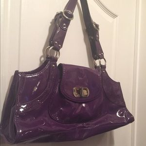 Franco Sarto Handbags - Beautiful patent look Franco Sarto purple hobo bag