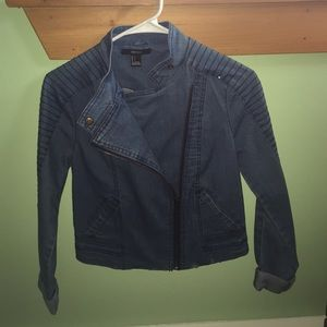 Moto denim jacket!