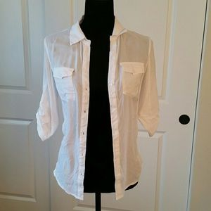 Tops - White dress shirt.