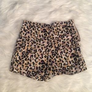 Forever 21 high waisted leopard shorts