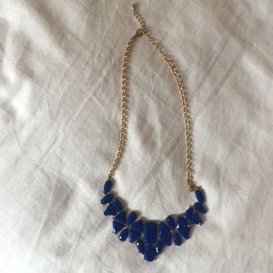 None Jewelry - Blue statement necklace