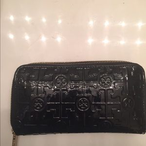 Tory Burch Embossed Lux Patent Leather Wallet