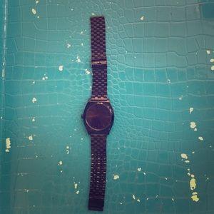 Nixon black time teller watch