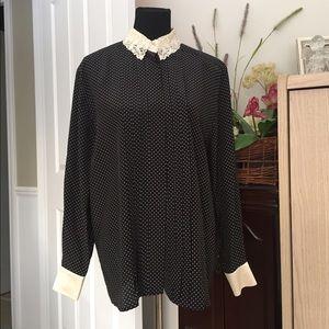 Escada Tops - 💐ESCADA ..Margaretha Ley silk..navy blouse