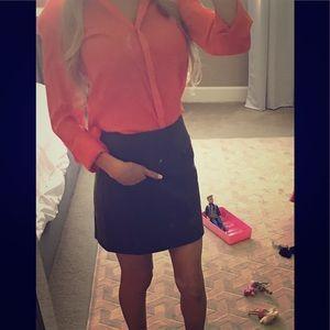 Orange Zara top!