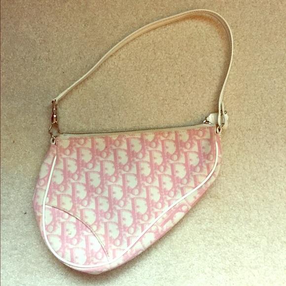 205cf39dafb Dior Bags | Pink Christian Saddle Bag | Poshmark
