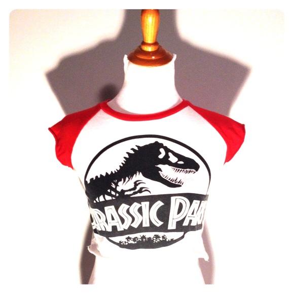 a0bbf1d306e Universal studios Tops | Jurassic Park Crop Top | Poshmark