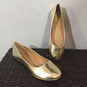 ShuShop Shoes - Gold Flats by ShuShop