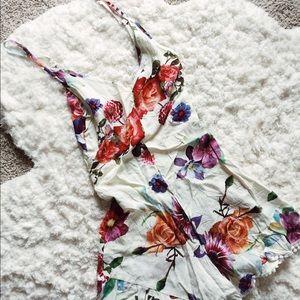 Floral print romper