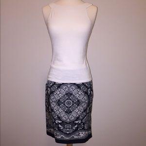LOFT Printed Skirt