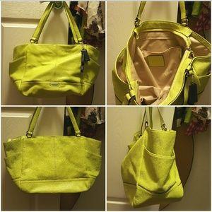 Women's Lime Green Coach Handbag on Poshmark