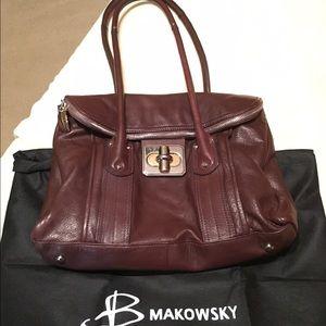 b. makowsky Handbags - B Makowsky Brown Leather Handbag, like new!