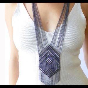 Sunahara Jewelry Jewelry - SunaharA Gunmetal Chandelier Necklace