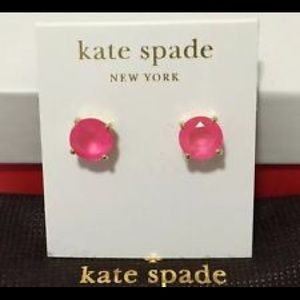 kate spade Jewelry - Kate Spade Pink Gumdrop Earrings