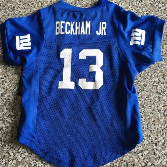 separation shoes 43631 b05fb NY Giants Odell Beckham Jr. Dog Jersey, Size Med