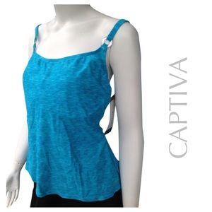 Captiva Other - NEW CAPTIVA tankini swim top turquoise suit 1X
