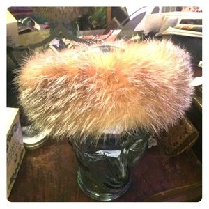 Real fox fur headband