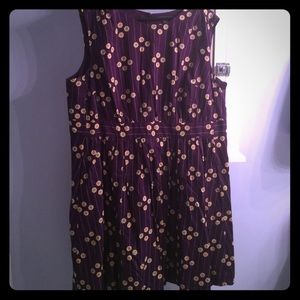 ModCloth Dresses & Skirts - Modcloth- Too Much Fun dress in Plum Petunias- 2X