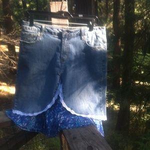 kreativekristen Dresses & Skirts - Layered denim boho skirt