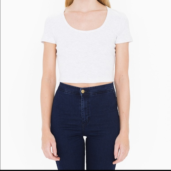 859e3c5cfc9 American Apparel Tops - American apparel white baby rib crop top