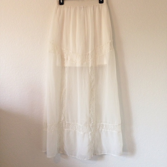 83 h m dresses skirts sheer lace layered maxi