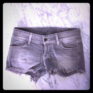 Siwy Pants - Siwy Camilla light grey denim cutoff shorts