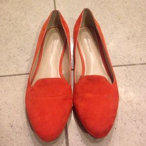 Banana Republic Orange Suede Loafer Flats 7.5