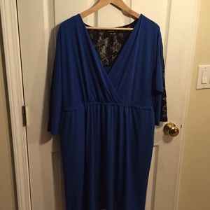 9548a9f8bb1 torrid Dresses - 🆕Torrid Royal Blue and black lace dress size 2🆕
