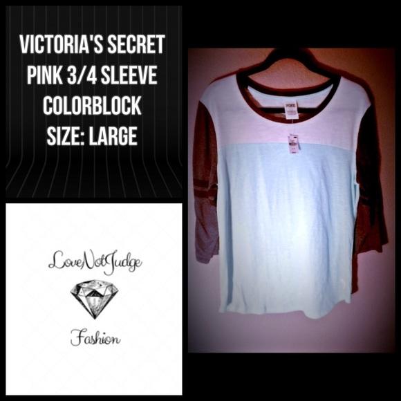 05520458 PINK Victoria's Secret Tops   Flash Sale Nwt Vs Pink 34 Sleeve ...