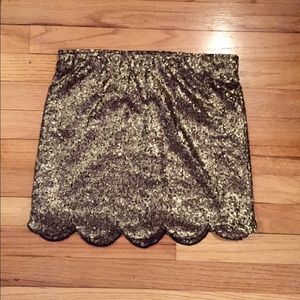 Nasty Gal Scalloped Sequin Mini Skirt