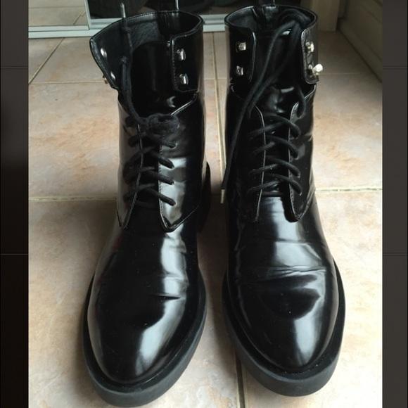 0f3cf6b4370 ZARA Women's Black Combat Boots.