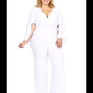 Pants Plus Size Cape Jumpsuit You Lovely Lady Poshmark