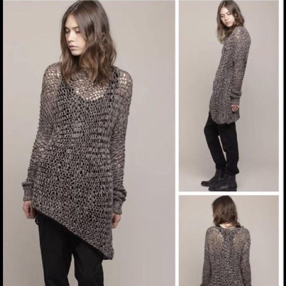da706576c3e2c Helmut Lang Sweaters - Helmut Lang Asymmetric Loop Knit Sweater Tunic