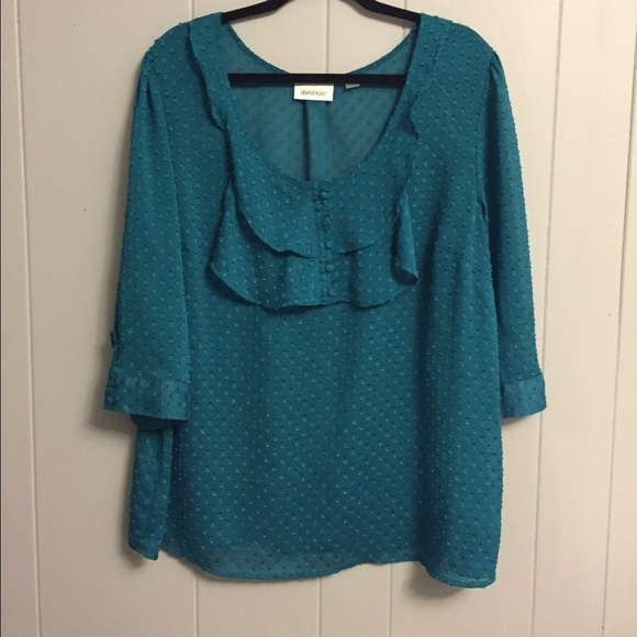 Teal Blouse Plus Size 82