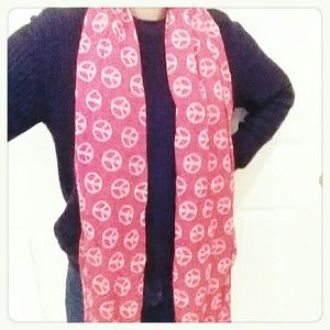 Accessories - Orange Peace Light Scarf