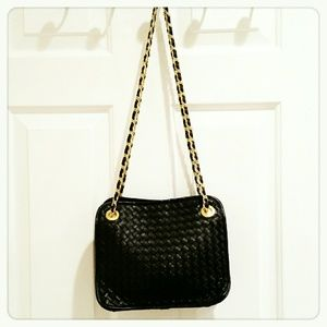 Handbags - Black Gold Chain Purse