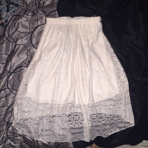 72 maurices dresses skirts high low white lace