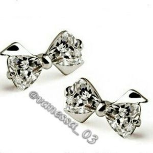 Jewelry - Bowtie Crystal Stud Earrings