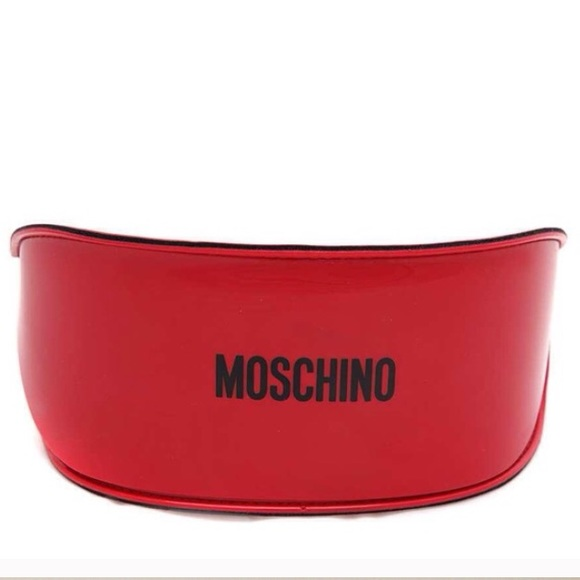 4a55742f683 Moschino red patent leather sunglass case