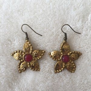 Jewelry - India flower earrings