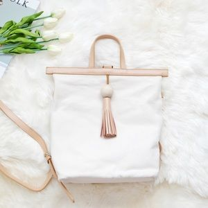 Acne Handbags - 🎉HP🎉 Genuine Leather Canvas Bag/Backpack