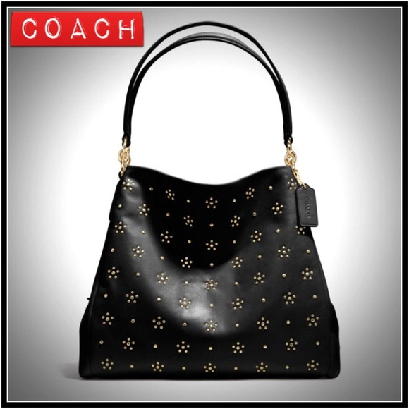 8db33e7fa8 Coach Bags | Phoebe Studded Leather Bag | Poshmark