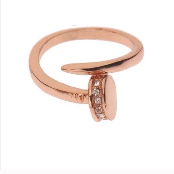 Newtj Designs Wraparound Rose Gold Nail Ring Poshmark