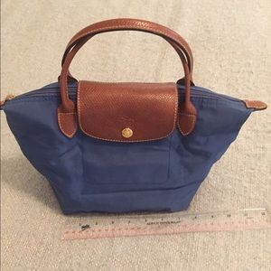 Blue Longchamp Le Pliage Bag