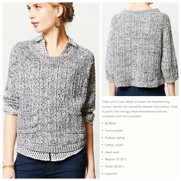 83% off Anthropologie Sweaters - Anthropologie MOTH Marled Swing ...