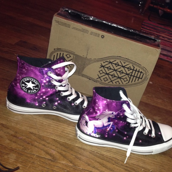 official photos 2d9f8 64173 Converse Shoes - Woman s high top unicorn galaxy converse