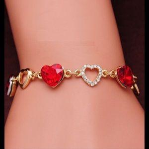 Jewelry - Yellow Gold ❤️❤️ Heart Bracelet