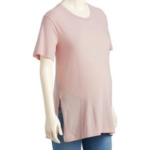 Old Navy Tops - NEW Old Navy Maternity Blush Pink Tunic Tee L