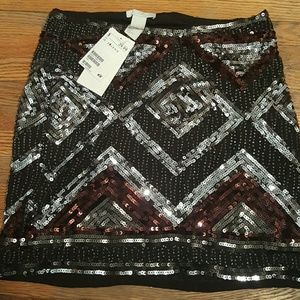 H&M sequins mini skirt SIZE 4