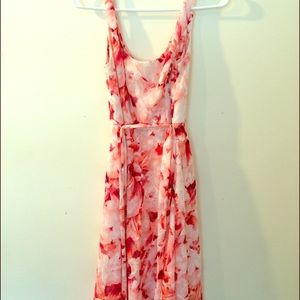 size 4 pink and white floral dress from dress barn
